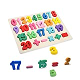 T Leaves Number Puzzles, Wooden Preschool Learning Toy for Toddler 3-5 Years Old,Perfect Toy Gift...
