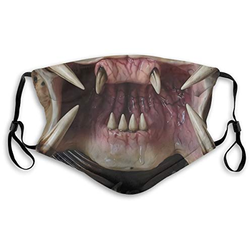 Masks- Alien Predator Mouth Reusable Outdoor Protective Anit Dust Cover Black