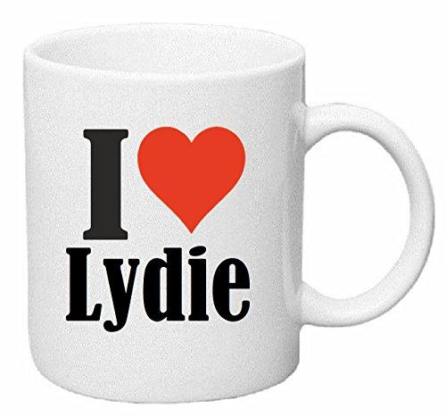 taza para café I Love Lydie Cerámica Altura 9.5 cm diámetro de 8 cm de Blanco