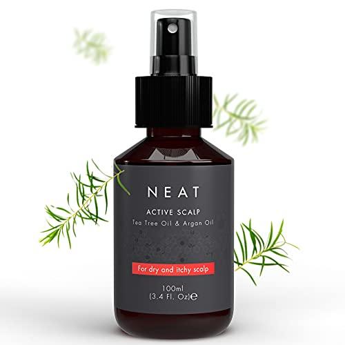 Neat Dry Scalp Treatment Oil with Tea Tree Oil & Argan Oil - Organic Scalp Exfoliator - Natural Scalp Itch Relief & Scalp Moisturizer - Dry Scalp Treatment for Women & Men - Scalp Oil - 3.38 Fl Oz