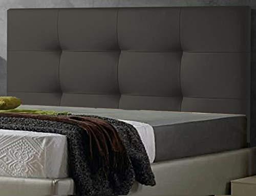 ED Cabecero Cama tapizado Polipiel Mod. Texas Todas Las Medidas y Colores (Gris, 150 * 70)