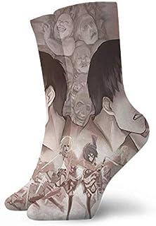 AEMAPE, Anime S-Hingeki No K-Yojin A-Ttack On Ti-Tan D Calcetines Deportivos de Baloncesto para Hombre al Aire Libre