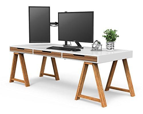 """BONTEC Soporte para Monitores y La Base Ajustable de Brazo de Escritorio de Las Pantallas de Monitor de TV, LCD y computadora de13""""-32"""""""