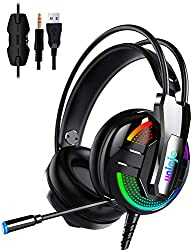 in budget affordable Gaming headsets, UNIOJO stereo headsets for PS4, Xbox One headsets, in-ear headphones for professional wired gaming bass …