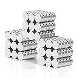 Wukong Neodym Magnete 8x3 mm 108 Stück Mini Magnete Extrem Stark Sehr Starke Magnete für...
