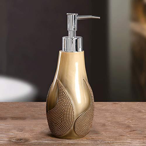 Aveo Seifenspender Nachfüllbare Flüssigseifenspender Pumpflasche for Waschtisch, Küchenspüle - Hält Handseife, Spülmittel, Händedesinfektionsmittel, Pumpspender (Color : Gold)