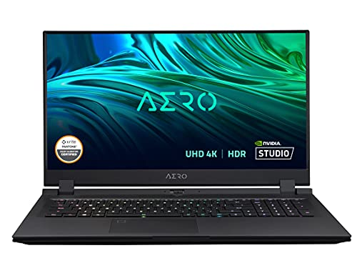 GIGABYTE AERO 17 HDR XD – 17.3″ UHD 4K IPS Anti-Glare, Intel Core i7, NVIDIA GeForce RTX 3070 Laptop GPU 8GB GDDR6, 16GB RAM, 1TB SSD, Win10 Pro, Creator Laptop