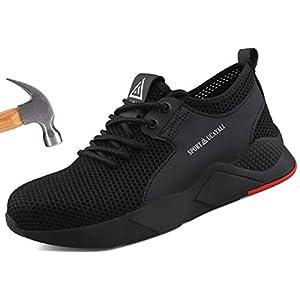 41oo6FrmgJL. SS300  - Ucayali Zapatos de Seguridad Hombre Trabajo Cómodas, Zapatillas de Trabajo con Punta de Acero Ultraligero Transpirables, 39-47
