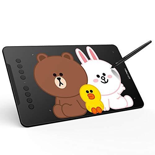 XP-PEN LINEFRIENDS Deco 01 V2 Tableta Gráfica Tableta de Dibujo para Pintar y Editar Fotos para Aprendizaje a Distancia