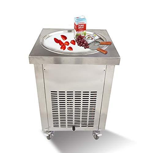 """Máquina comercial para hacer helados fritos en sartén redonda de 22"""", máquina para hacer helados de yogur para freír, máquina para hacer rollos de helado, máquina para hacer helados"""