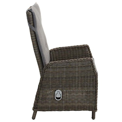 FAUTEUIL ROTIN SYNTHETIQUE TRESSEE MULTIPOSITIONS