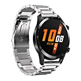 TeaBoy Compatible with Huawei Watch GT2 46mm Bands, 22mm Quick Release Easy Fit Premium Stainless Steel Watch Strap Wrist Band Compatible with Huawei Watch GT2 46mm for Women Men