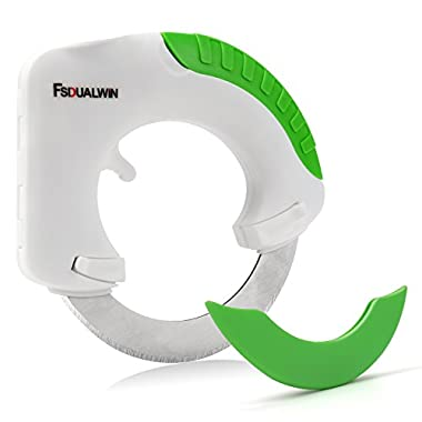 FSDUALWIN Circular Rolling Knife, Kitchen Cutter Gadget, Pizza Knives with Stainless Steel Sharp Blade and Cover