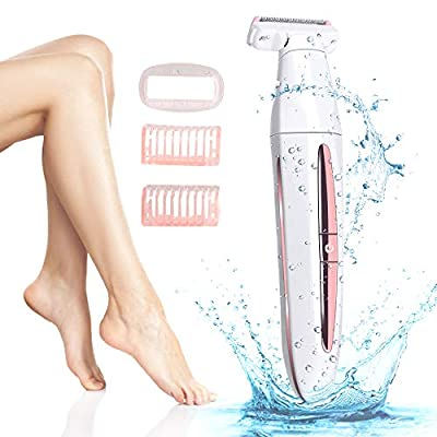Electric Lady Shaver, Women's Hair Removal Electric Razor Portable Waterproof Ladies Razor Painless Personal USB Rechargeable Bikini Razor-Safe and Easy to from Lushforest