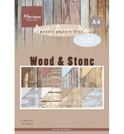 Motivpapier - Wood Stone