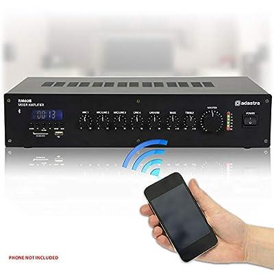 Adastra 100V Line 5-Ch Mixer Amplifier Bluetooth USB FM Background Music RM60B
