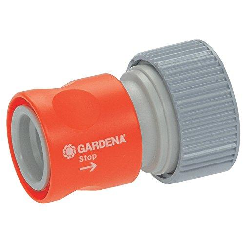 Gardena Profi-System-Übergangsstück mit Wasserstop: Schlauchstück zum Anschluss am Schlauchende, geeignet für 19 mm (3/4 Zoll)-Schläuche (2814-20)