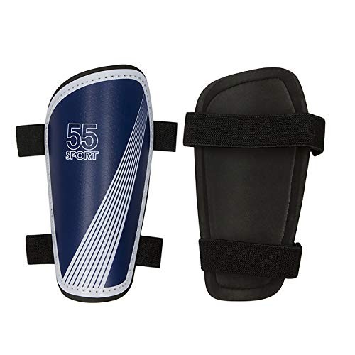 55 Sport Vortex Lite Protective Football Shin Guards Blue XL