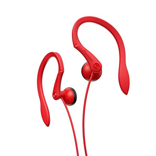 Pioneer SE-E511-R - Auriculares Deportivos de Clip, Color Rojo
