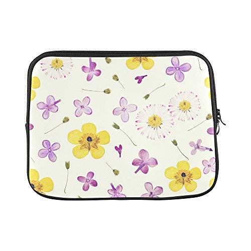Design Custom Pressed Dried Flowers Sleeve Soft Laptop Case Bag Pouch Skin for Air 11'(2 Sides)