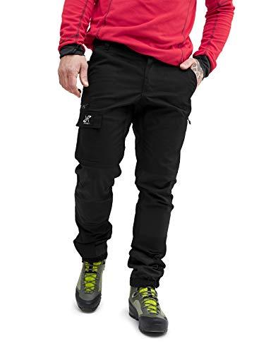 RevolutionRace Herren Nordwand Pants, Hose zum Wandern und für viele Outdoor-Aktivitäten, Black, XS