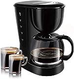 YINGGEXU Cafetera de café, cafetera eléctrica de 1,25 L, 800 W, máquina de café para el hogar, 12 tazas, cafetera con leche, compatible con regalo, compatible con oficina en casa