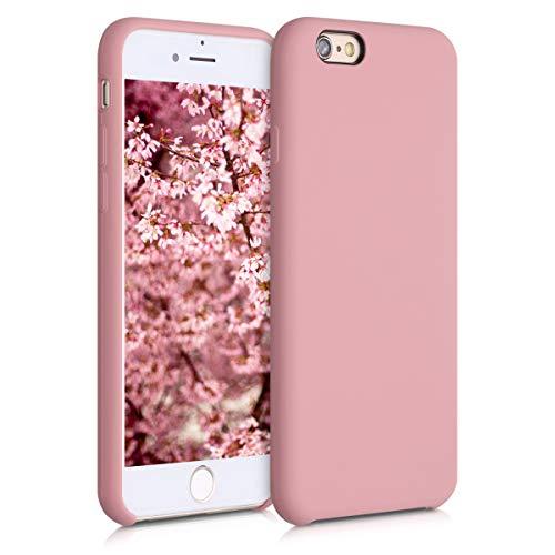 kwmobile Funda Compatible con Apple iPhone 6 / 6S - Carcasa de TPU para móvil - Cover Trasero en Rosa Viejo