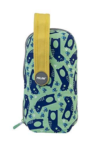 MILAN Kit 4 Estuches Con Contenido Net&lit Verde Estuches, 22 cm, Verde