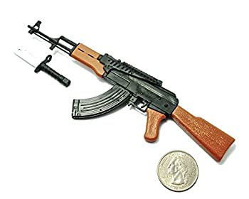 4D 1/6 Scale AK47 Assault Rifle Russian Soviet Army Miniature Toy Guns Model Fit for 12  GI Joe Action Figure