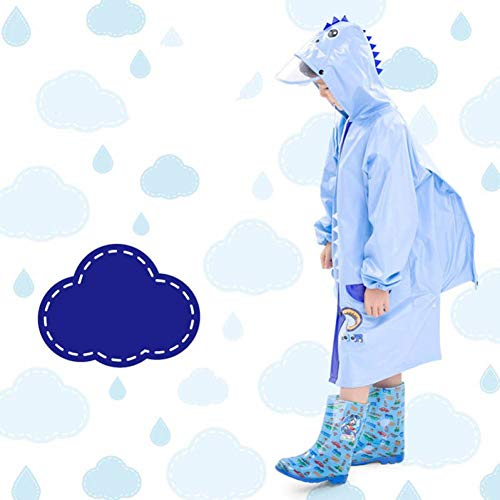 NHDYZ Regenmantel Niedlicher Igel-Umweltkarikatur-Kinderregenmantel-Buch-Beutel-Kursteilnehmer-Poncho scherzt reizenden Regen-Mantel, D, M