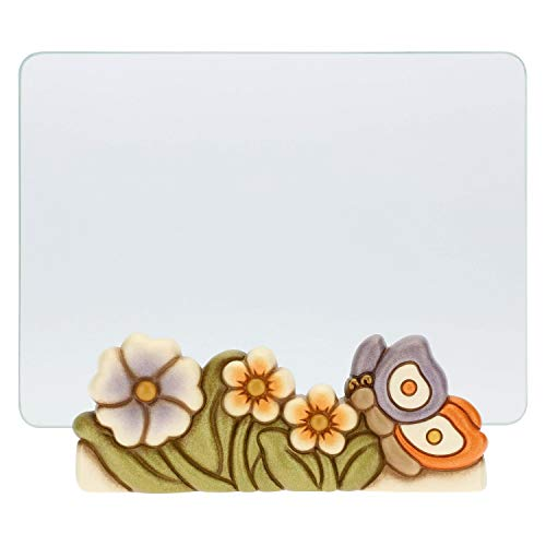 THUN Portafoto in Vetro Primavera con Farfalla Formato 13x18 cm