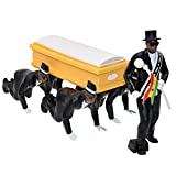 Lutun Mini Hombre Negro con Modelo de ataúd, Cosplay Ghana Funeral Dancing Team Kits, Ghana Dancing Pallbearers Action Figure Collection Toys