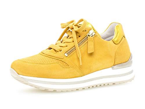 Gabor Damen Sneaker, Frauen Low-Top Sneaker,Comfort-Mehrweite,Reißverschluss,Optifit- Wechselfußbett, weibliche feminin,Mango (perf.),39 EU / 6 UK