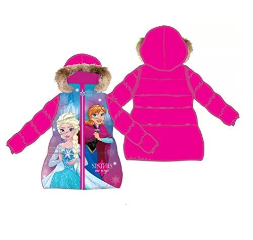 Frozen - Die Eiskönigin Disney Mädchen Winterjacke, Wintermantel Gr. 104, 116, 122, 128, 140 (116)