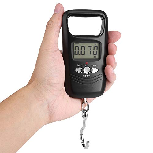 YING-pinghu Scale Multipurpose 50KG Digital Hanging Scale Double Accuracy Portable Electronic Pocket Scale Hanging Luggage Weighing Steelyard Scale (Color : Black)