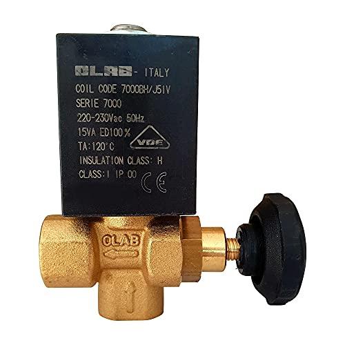 OLAB 7000 zawór magnetyczny 220-230V/50Hz 15VA 1/4 cala do w pełni automatycznych ekspresów do kawy Astoria - Nuova - Wega | zestaw M9A