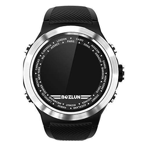 Smartwatch,Reloj Inteligente Impermeable IP67, Pulsera De Actividad Inteligente Con Monitor De Sueño Contador De Caloría Pulsómetros Podómetro, Para Hombres Mujeres Niños Compatible Ios Android,Plata