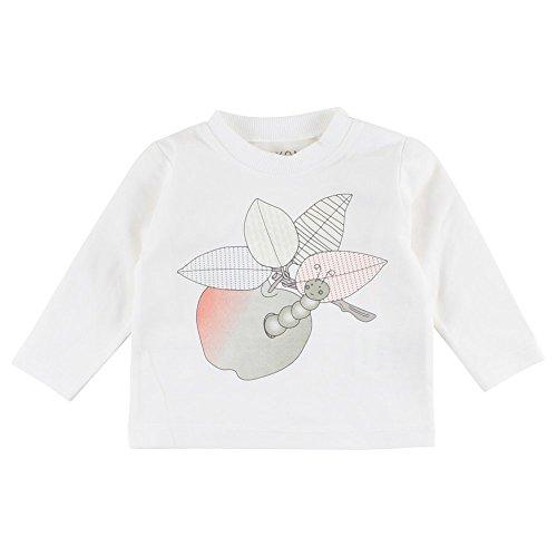 Fixoni Grow LS Top T-Shirt Manches Longues, Ecru (00-31 Off White 00-31), 12 Mois Bébé Fille
