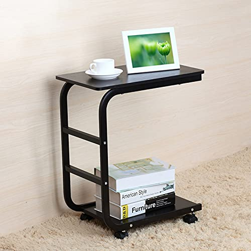 Study Laptop Table Office Side Table Mobile Lap Table Computer Desk Stand Desk For Bed Sofa Office,A