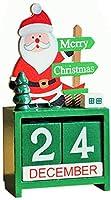 クリスマスの装飾、クリスマス木製サンタスノーマンエルクトレインカレンダー飾りクリスマスパーティー家の装飾サンタS