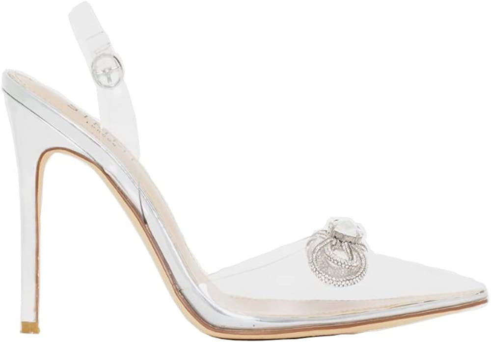 2021 HellHeel Genuine Free Shipping Clear Stiletto Pumps Court Shoes