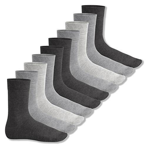 Footstar Herren & Damen Baumwollsocken (10 Paar), Klassische Socken aus Baumwolle - Everyday! - Classic Grey 39-42