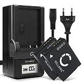 CELLONIC® 2X Batería de Repuesto DMW-BCG10 BCG10e BCG10pp per Panasonic Lumix DMC-TZ10 TZ6 TZ7 TZ8 TZ18 TZ20 TZ25 TZ30 TZ31 TZ35 DMC-ZX1, 890mAh + Cargador DE-A66, Accu Sustitución Camara, Battery