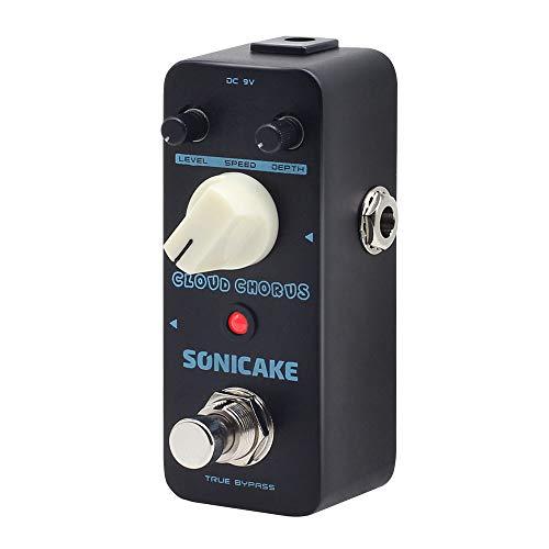 SONICAKE Cloud Chorus Pedal de efectos de guitarra, clásico, estilo BBD, analógico, sonido de coro, cable de conexión de guitarra de 6 pulgadas incluido