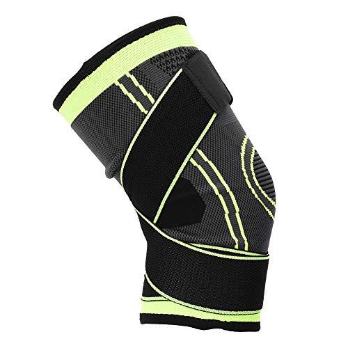 Joelheira quente, joelho quente de inverno, joelheira esportiva durável, para treinamento esportivo ao ar livre(Green M code)