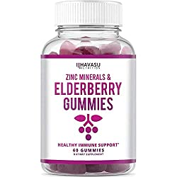 PREMIUM IMMUNE SUPPORT - Havasu ELDERBERRY GUMMIES are a delicious and convenient way to include the amazing Elderberry fruit along with immune-supportive nutrients Zinc and Vitamin C.* SUPER IMMUNE RESPONSE - Elderberries are a tiny, tart & deliciou...