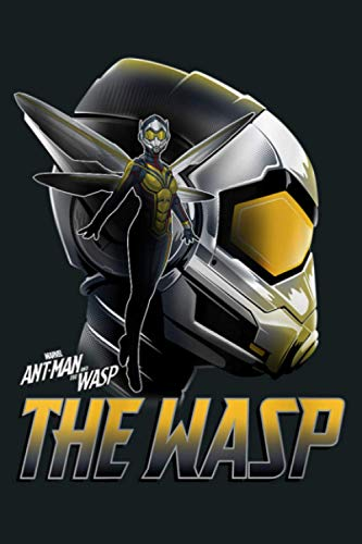 Womens Marvel Ant Man And The Wasp Head Shot Portrait Logo V Neck: Notebook Planner - 6x9 inch Daily Planner Journal, To Do List Notebook, Daily Organizer, 114 Pages