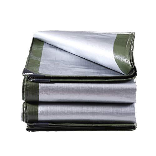 Lona impermeable a prueba de sombra y lluvia, 160 g/m², resistente lona de polietileno con ojales, para jardín, muebles, cabaña, madera, coche, camping (color: verde, tamaño: 2 x 3 m)