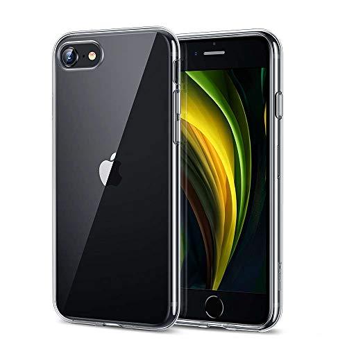 EONO von Amazon iPhone SE/8/7 Hülle, Transparent Durchsichtig [Ultra Dünn] Klar Weiche TPU Schutzhülle [Kabelloses Aufladen Unterstützung] für iPhone SE/8/7 4.7 Zoll (2020) Freigegeben.-Klar