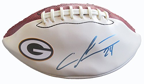 Charles Woodson Autographed Green Bay Packers Logo Football W/PROOF, Picture of Charles Signing For Us, Oakland Raiders, Green Bay Packers, Michigan Wolverines, Super Bowl Champion, Heisman Trophy